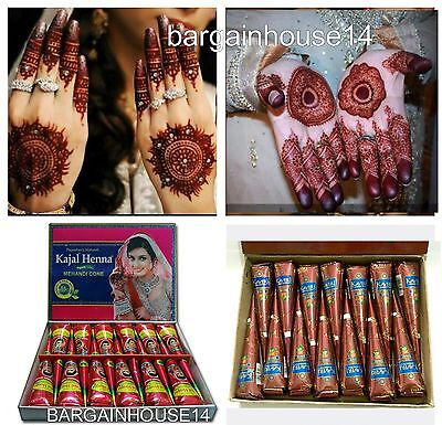Best Quality Fresh Kajal/kaveri Henna Mahndi Temporary Tattoo Cones + Fast Post
