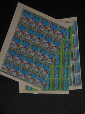 BURMA : 1996. Scott #328-30 Complete sets in Full Sheets of 50. Catalog $667.00.