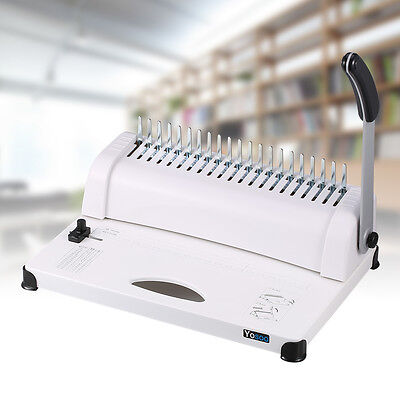 Pro Manual Office Comb Binding Machine 21 Hole A4 Plastic Coil Punch Binder AU