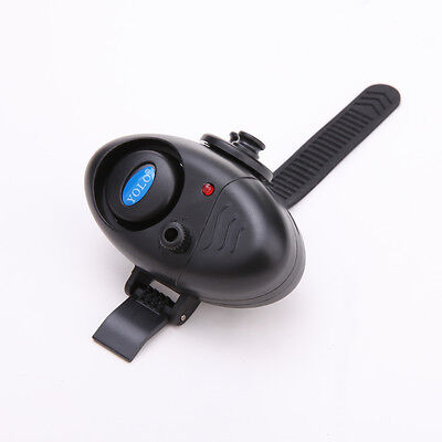 Electronic Fish Bite Sound Alarm LED Light Alert Bell Fishing Rod Clip-On Yolo