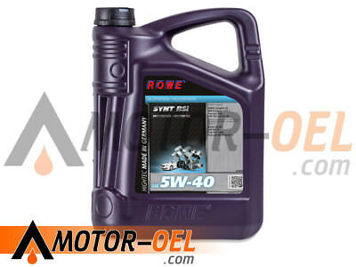 5 Liter ROWE HIGHTEC SYNT RSi SAE 5W-40, Motoröl Made in Germany