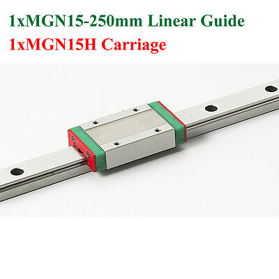 MR15 MGN15 15mm Mini Linear Guide 250mm With MGN15H Linear Block Carriage CNC