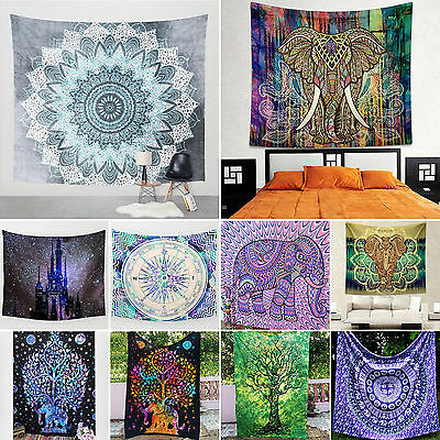 Indian Tapestry Wall Hanging Decor Hippie Gypsy Bedspread Throw Bohemian Cover