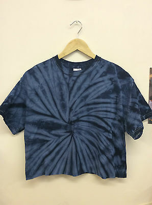 Vintage Retro Reworked Crop Top Cropped T-Shirt Oversized Festival Tie-Dye (Ct27