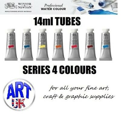 Winsor & Newton PROFESSIONAL ARTISTS Watercolour Paint 14ml TUBE Series 4 Colour