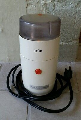Vintage Braun Aromatic Coffee Grinder - Ksm1 - White - W. Germany - Used