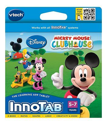 Vtech Disney Mickey Mouse Clubhouse Innotab Inno Tab Game 5-7 Yrs
