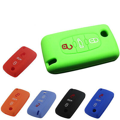 Remote 3 Buttons Key Fob Case Silicone Cover for CITROEN C2 C3 C4 C5 C6 Picasso