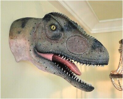 Allosaurus Dinosaur Head Wall Mount Sculpture Jurassic Park Statue 24""