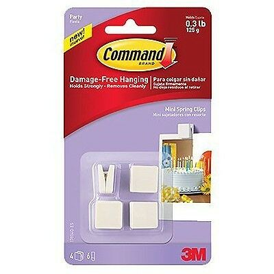 Command Party Mini Spring Clips, 4-Clips (17804Q-ES)