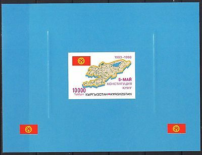 Kyrgyzstan 1998 5th Anniversary of Constitution Map Flag S/S DeLux MNH**