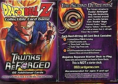 1 Dragonball Z CCG TCG Trunks Reforged Sealed Theme Deck by Score 2002  66 Cards
