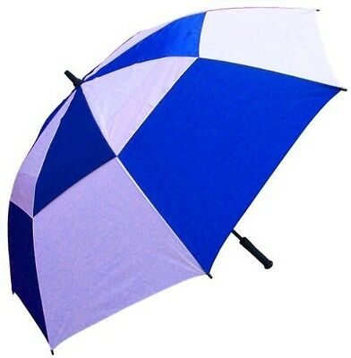 RainStoppers 62-Inch Double Canopy Golf Umbrella (Royal and White)