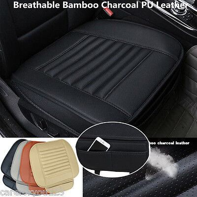 Soft PU Leather Front Car Seat Cover Cushion Slip Mat Seat Protection Covers