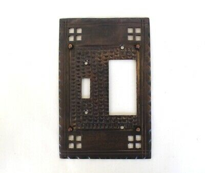 Arts and Crafts Rocker with Single Switch Plate Mission Bungalow Bronze