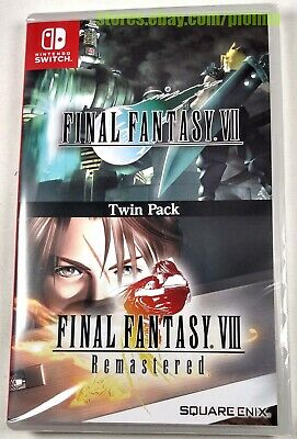 FINAL FANTASY VII + VIII Twin Pack New NINTENDO SWITCH Game ENGLISH 7 8 Imported