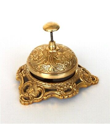 Solid Brass Store Bell Front Desk Retail Counter Store Antique Replica