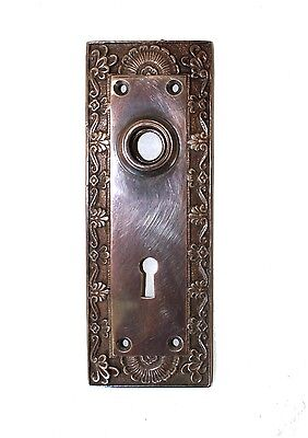 Shell Top Door BACK PLATE Hardware solid brass DARKENED AGED