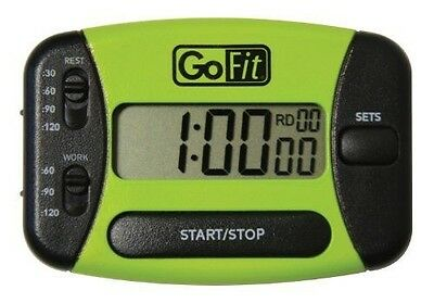 Go Timer Interval Training Timer in Clamshell Packaging, Green/Black by GoFit
