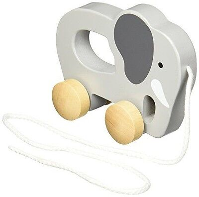 Hape - Elephant Wooden Push and Pull Toy