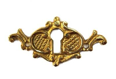 Brass Key Hole Cover Victorian Escutcheon Antique Style Cabinet Door Hardware