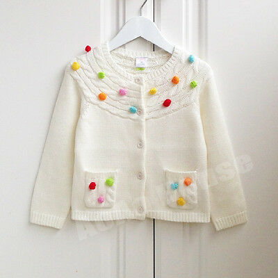 Girls Toddlers Cardigan Cotton Jumper Sweater Size 6M-5YRS