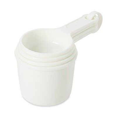 Rubbermaid Commercial FG8315ASWHT 4-Piece Measuring Cup Set, White