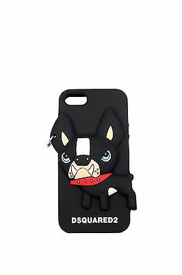 Iphone Cases Dsquared2 Unisex Silicone Black W14IT6001V3372124