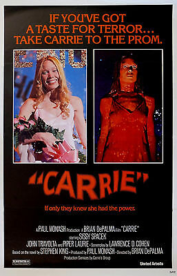 """""""CARRIE"""" Piper Laurie John Travolta Classic Horror Movie Poster A1A2A3A4Sizes"""
