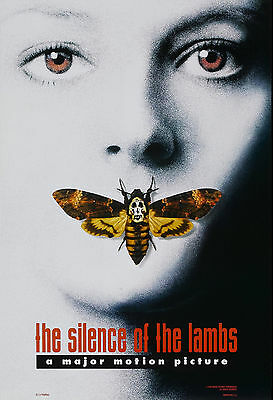 """""""SILENCE OF THE LAMBS"""" Foster/Hopkins.Classic Horror Movie Poster A1A2A3A4Sizes"""