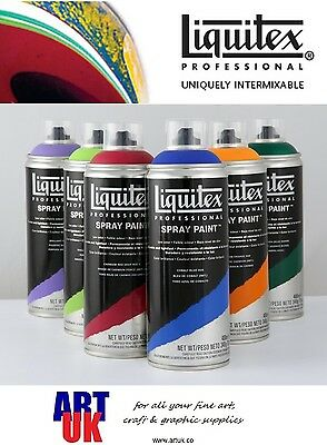 Liquitex Professional Acrylic Artists Aerosol SPRAY PAINT 400ml Colour Can