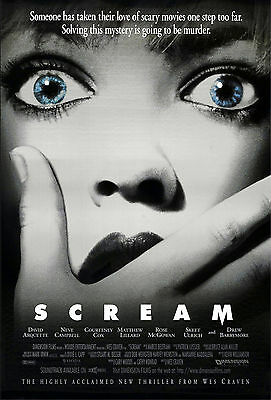 """""""Wes Cravens Scream"""" Modern Classic Horror Movie Poster Various Sizes"""