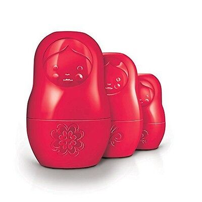 Fred & Friends M-CUPS Red Matryoshka Dry Measuring Cups, Set of 6