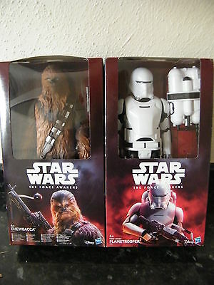 "Star Wars The Force Awakens 12"" First Order Flametrooper+Chewbacca All In £19.99"