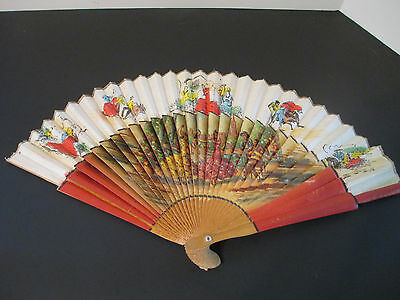 Vintage Spanish Style Hand Fan