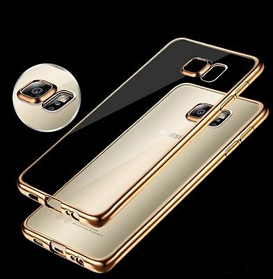 ShockProof Silicone Bumper Clear Slim Case Cover For Samsung Galaxy S6 S7 S8Plus