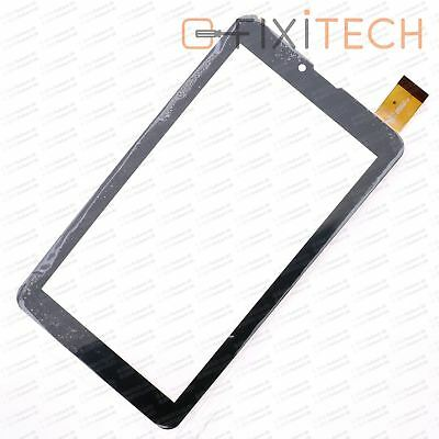 "Schwarz 7"" Touchscreen Display Glas Digitizer Komp. SurfTab TrekStor Xiron 3G"