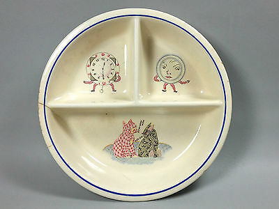 Universal Juvenile Ware Child's Plate Clock Cats Hickory Dickory Dock