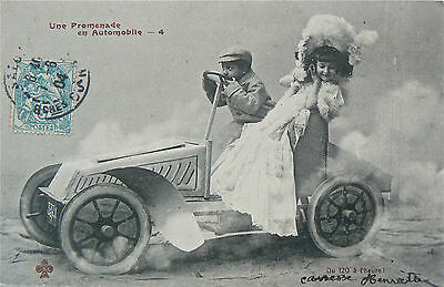 Postcard. Vintage Vehicle Postmarked 1904.real Photo Image.on The Promenade!