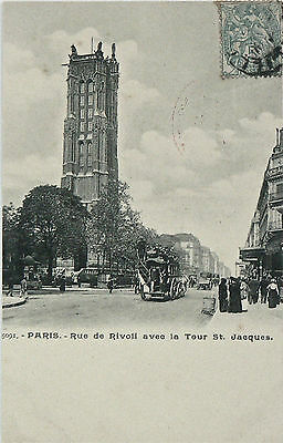 Postcard. Vintage Bus In Paris About 1901.the Jean Henry Collection.undivided Bk