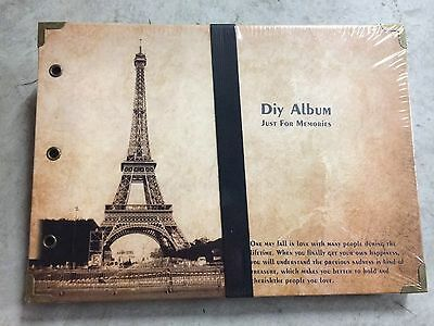 DIY 30Pages 26.5cm x 18.5cm Paris Tower Photo Album Wedding Book Scrapbook