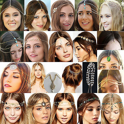 Newest Head Chain Women Metal Rhinestone Jewelry Headband Head Piece Hair band