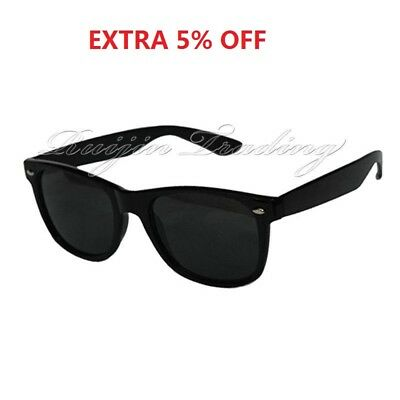 Black Sunglasses Mens Ladies Large Classic Shades Unisex Oval Classic Festival