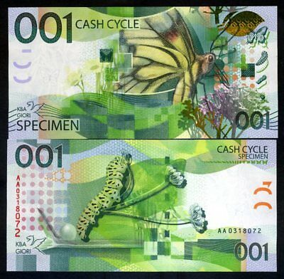 001 Cash Cycle KBA-GIORI, Test note / Specimen - Butterfly - Stunning