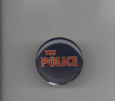 The POLICE LOGO ROUND METAL LAPEL PIN * EXCELLENT & COLORFUL