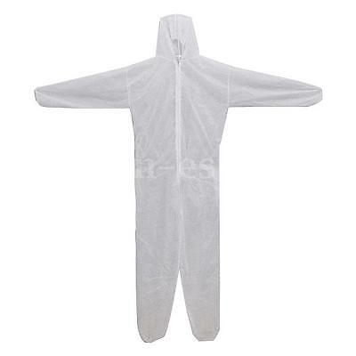 1PCS Disposable Coverall Overall Suit Hood Non-woven Dust-proof Clothing M-3XL