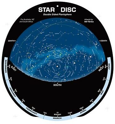 Star Disc Planisphere for the Southern Hemisphere, 35 degrees south.