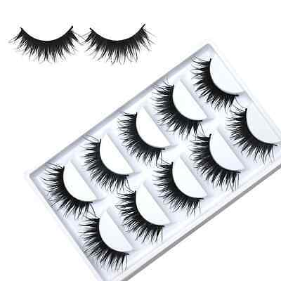 5Pair Soft Natural Thick Makeup False Eyelashes Long Eye Lashes Extension HOT US