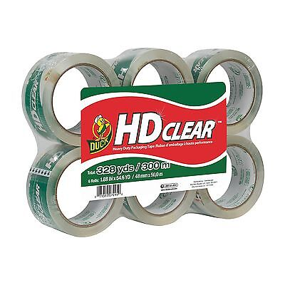 Duck Brand HD Clear High Performance Packaging Tape, 1.88-Inch x 54.6 Yard, Crys