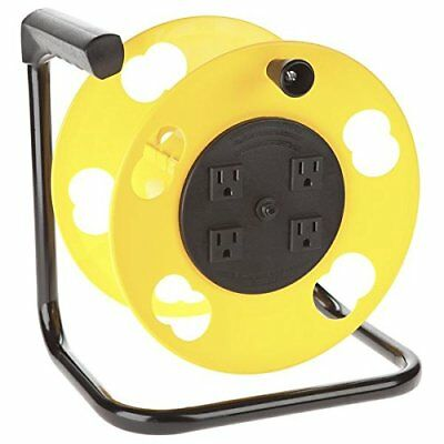 Bayco SL-2000PDQ Cord Storage Reel with 4 Outlets and Resettable 15-Amp